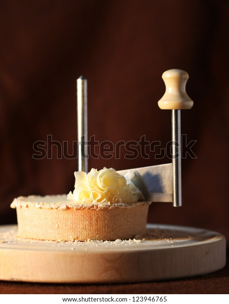 Swiss cheese specialty - Tete de Moine (warm tone)