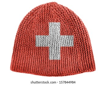 The Swiss flag on cap