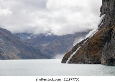 Swiss lake near Mauvoisin dam, Switzerland
