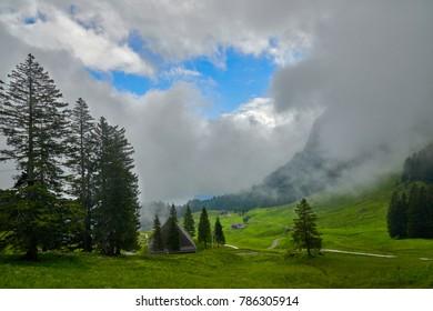 A Swiss landscape in the foot of Mount Pilatus.