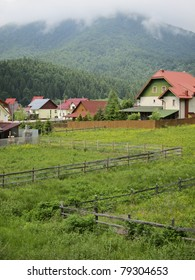 Swiss -like mountain landscape in the Carpathians, Romania