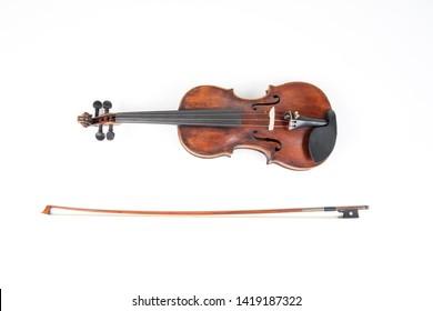 Swiss made violin made of rosewood.