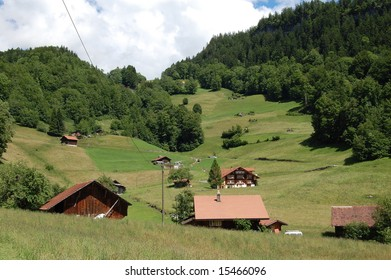 Swiss mountain cottages