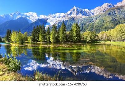 Swiss mountain and lake scenery   - Shutterstock ID 1677039760