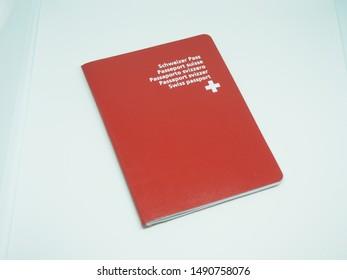 Swiss Passport on white background