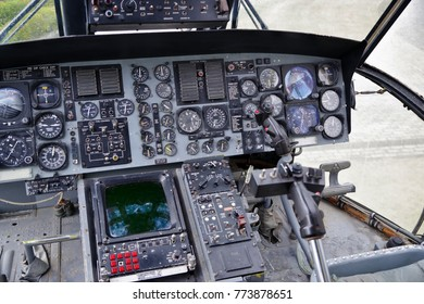 Switch of cockpit of old aircraft
