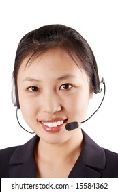 switchboard operator, smiling