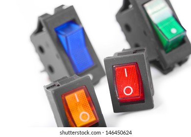 switches, colorful service switch electronic part