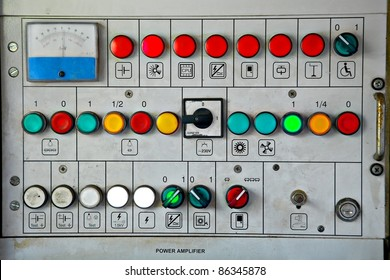 Switches on an industrial control board