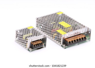 Switching power supply AC to DC isolated on the white background