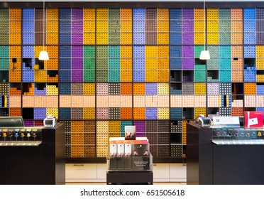 SWITZERLAND - APRIL 28: ZARA Store on April 28, 2017 in Zurich Switzerland.Nespresso coffee capsules inside a store at the Nestle SA headquarters