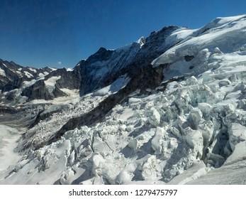 Switzerland, Bern Canton, Eiger, view of the Eiger glacier