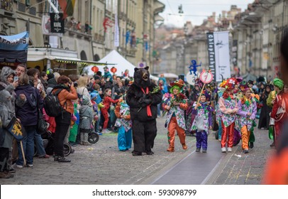 Switzerland Bern Fasnacht 2017, a festival to drive away demons and a celebration marking the end of winter. 4 March 2017