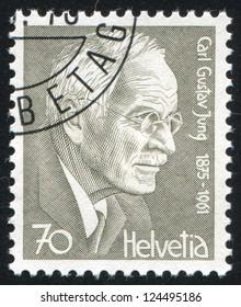 SWITZERLAND - CIRCA 1978: stamp printed by Switzerland, shows Carl Gustav Jung, circa 1978