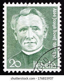SWITZERLAND - CIRCA 1978: a stamp printed in the Switzerland shows Joseph Bovet, Composer and Priest, circa 1978
