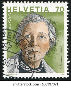SWITZERLAND - CIRCA 1996: stamp printed by Switzerland, shows  Corinna Bille, circa 1996