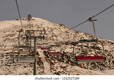 Switzerland: Due to the global climate change the permafrost is melting and wintersport conditions get worse like here on Jakobshorn