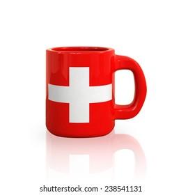 Switzerland flag cup