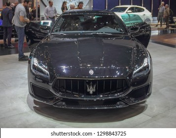 Switzerland; Geneva; March 10, 2018; The Maserati Ghibli; The 88th International Motor Show in Geneva from 8th to 18th of March, 2018.