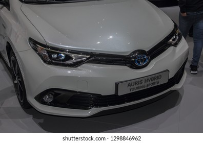 Switzerland; Geneva; March 10, 2018; Toyota Auris Hybrid touring sports - front; The 88th International Motor Show in Geneva from 8th to 18th of March, 2018.