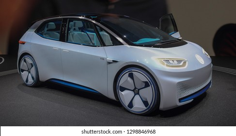 Switzerland; Geneva; March 10, 2018; The Volkswagen I.D. The 88th International Motor Show in Geneva from 8th to 18th of March, 2018.