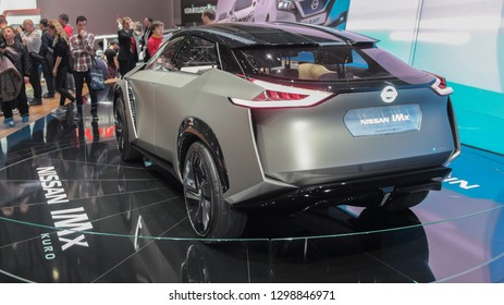 Switzerland; Geneva; March 10, 2018; NISSAN IMx kuro - rear side; The 88th International Motor Show in Geneva from 8th to 18th of March, 2018.