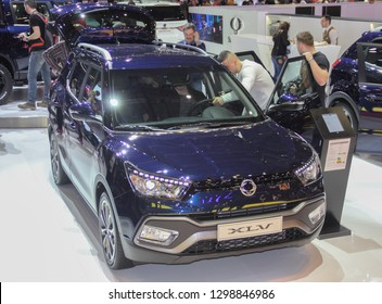 Switzerland; Geneva; March 10, 2018; The Ssangyong XLV concept; The 88th International Motor Show in Geneva from 8th to 18th of March, 2018.