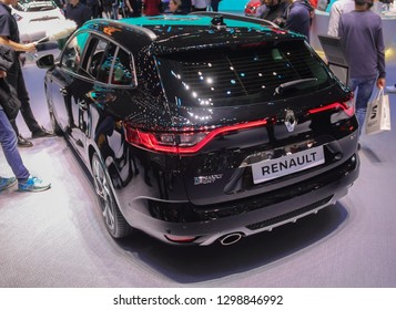 Switzerland; Geneva; March 10, 2018; The Renault Megane sport - rear side; The 88th International Motor Show in Geneva from 8th to 18th of March, 2018.