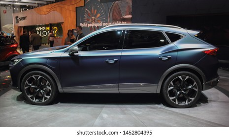 Switzerland; Geneva; March 10, 2019; Cupra Formentor, profile view; The 89th International Motor Show in Geneva from 7th to 17th of March, 2019.