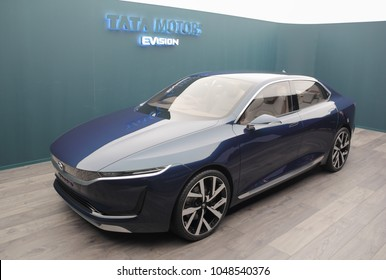 Switzerland; Geneva; March 8, 2018; Tata Motors EVison; the 88th International Motor Show in Geneva from 8th to 18th of March, 2018.