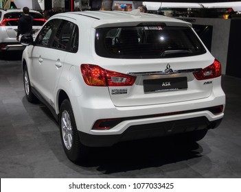 Switzerland; Geneva; March 8, 2018; The Mitsubishi ASX rear side; The 88th International Motor Show in Geneva from 8th to 18th of March, 2018.