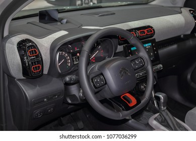 Switzerland; Geneva; March 8, 2018; The C3 Aircross SUV interior; The 88th International Motor Show in Geneva from 8th to 18th of March, 2018.