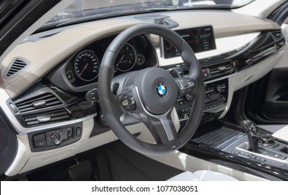 Switzerland; Geneva; March 8, 2018; The BMW X3 interior; The 88th International Motor Show in Geneva from 8th to 18th of March, 2018.
