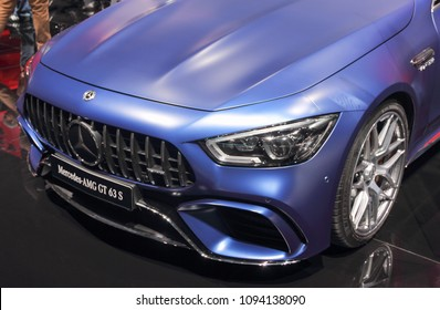 Switzerland; Geneva; March 8, 2018; Mercedes-Benz AMG GT 63 S; The 88th International Motor Show in Geneva from 8th to 18th of March, 2018.