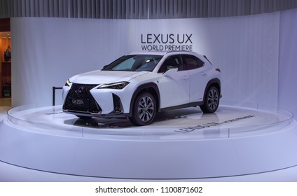Switzerland; Geneva; March 8, 2018; World Premiere Lexus UX 250h front from the left; The 88th International Motor Show in Geneva from 8th to 18th of March, 2018.