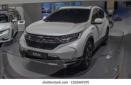 Switzerland; Geneva; March 8, 2018; Honda CR-V; The 88th International Motor Show in Geneva from 8th to 18th of March, 2018.