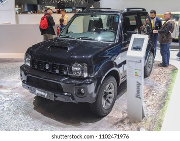 Switzerland; Geneva; March 8, 2018; Suzuki Jimny; The 88th International Motor Show in Geneva from 8th to 18th of March, 2018.