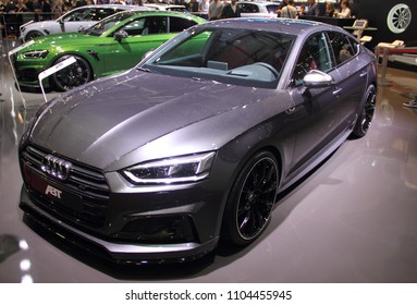 Switzerland; Geneva; March 8, 2018; Audi ABT A5 sportback; The 88th International Motor Show in Geneva from 8th to 18th of March, 2018.