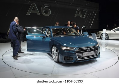 Switzerland; Geneva; March 8, 2018; Audi A6 50 TDI quattro; The 88th International Motor Show in Geneva from 8th to 18th of March, 2018.