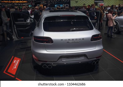 Switzerland; Geneva; March 8, 2018; Porsche Macan turbo; The 88th International Motor Show in Geneva from 8th to 18th of March, 2018.