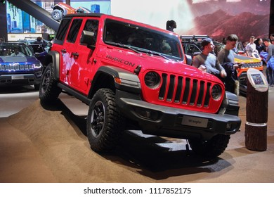 Switzerland; Geneva; March 8, 2018; The Jeep Rubicon Wrangler; The 88th International Motor Show in Geneva from 8th to 18th of March, 2018.