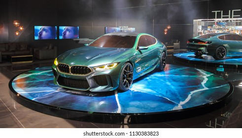 Switzerland; Geneva; March 8, 2018; The World Premiere of BMW concept Gran Coupe; The 88th International Motor Show in Geneva from 8th to 18th of March, 2018.