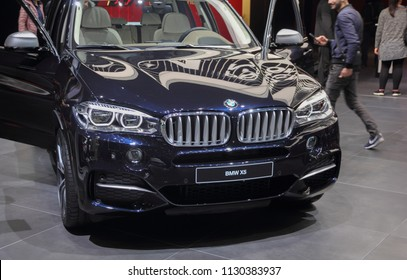 Switzerland; Geneva; March 8, 2018; The BMW X5; the 88th International Motor Show in Geneva from 8th to 18th of March, 2018.
