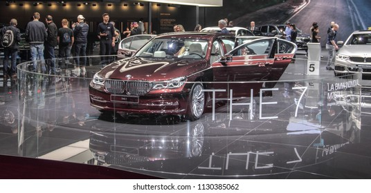 Switzerland; Geneva; March 8, 2018; The BMW 7 Series Swan, The World Premiere; the 88th International Motor Show in Geneva from 8th to 18th of March, 2018.