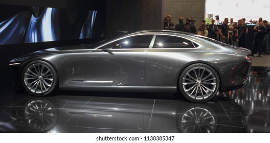 Switzerland; Geneva; March 8, 2018; Mazda Vision Coupe Concept profile; The 88th International Motor Show in Geneva from 8th to 18th of March, 2018.