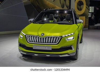 Switzerland; Geneva; March 8, 2018; The Skoda Vision X; The 88th International Motor Show in Geneva from 8th to 18th of March, 2018.