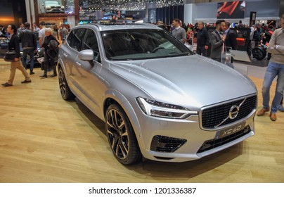 Switzerland; Geneva; March 8, 2018; The Volvo XC60; The 88th International Motor Show in Geneva from 8th to 18th of March, 2018.