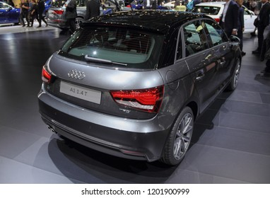 Switzerland; Geneva; March 8, 2018; The Audi A1 1.4 T; The 88th International Motor Show in Geneva from 8th to 18th of March, 2018.