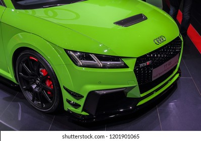 Switzerland; Geneva; March 8, 2018; The Audi TT RS; The 88th International Motor Show in Geneva from 8th to 18th of March, 2018.