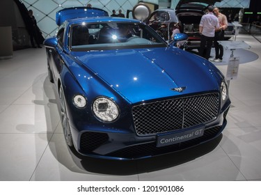 Switzerland; Geneva; March 8, 2018; Bentley Continental GT; The 88th International Motor Show in Geneva from 8th to 18th of March, 2018.